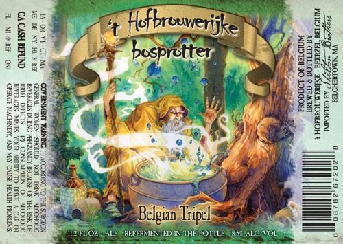 't Hofbrouwerijke Brosprotter, Hofbrouwerijke Brosprotter, Brosprotter, Hofbrouwerijke, Belgian Tripel, Tripel, Belgian beer, wizard label, Beerzel Belgium